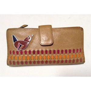 💕Fossil unique enameled appliqué wallet/clutch